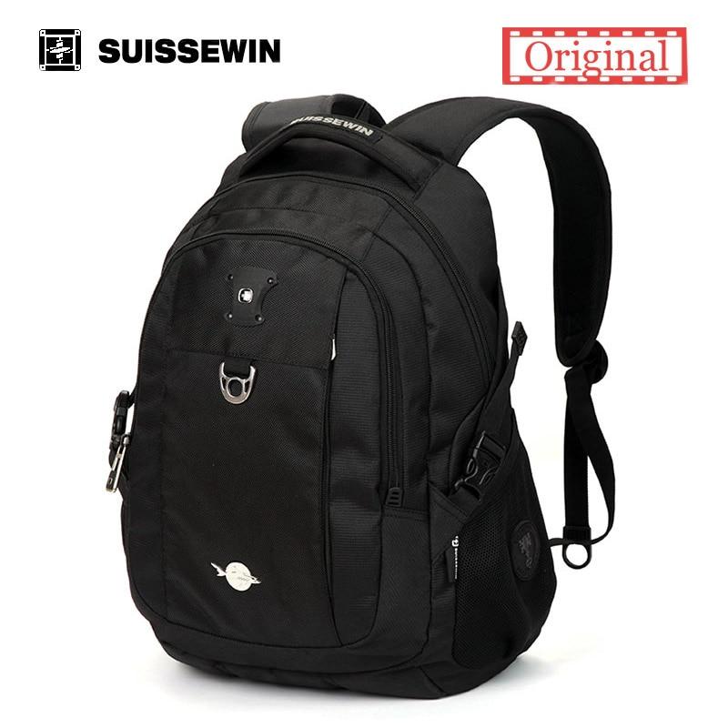 Suissewin School Backpack Men Women Backpack Black Mochila Waterproof Nylon Laptop Backpack A4 Bookbag<br><br>Aliexpress