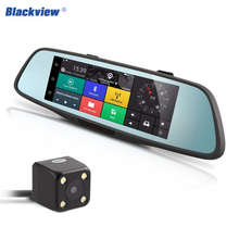 Blackview Smart Rearview Mirror Multi-function Car Camcorder Car Bluetooth Navigators HD Night Vision Dual Lens Back view Camera(China)