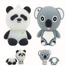 Pendrive 128GB USB Flash Drive Memory Stick/thumb 4g 8g 16g 32g 64g panda animal flash pen drive tiny U Disk 16 gb hard disk