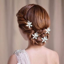 4 PCS crystal U send women of hairpin bridesmaid hair curling iron wedding bridal accessories head ornament