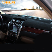 Car Dashboard Cover Avoid Light Pad Instrument Platform Dash Board Cover For Toyota camry 2012-2015 7Gen Car Accessories(China)