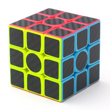 ZCUBE Carbon Fiber Sticker Puzzle Cube Speed Magic Cube 3x3x3 Fidget Cube Magico Educational Toys Gifts for Children Adults(China)
