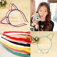 Sexy Cat's Ears Hair Hoop Hairbands Stylish Headband Cat ears Hair Band Accessories Headwear For Girls Women 4 Colors(China)