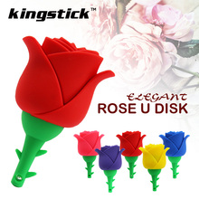 Colorful Rose flower pendrive popular u disk 4GB 8G 16G 32G USB Flash Pen Drive Memory Stick usb Thumb Stick girlfriend gift