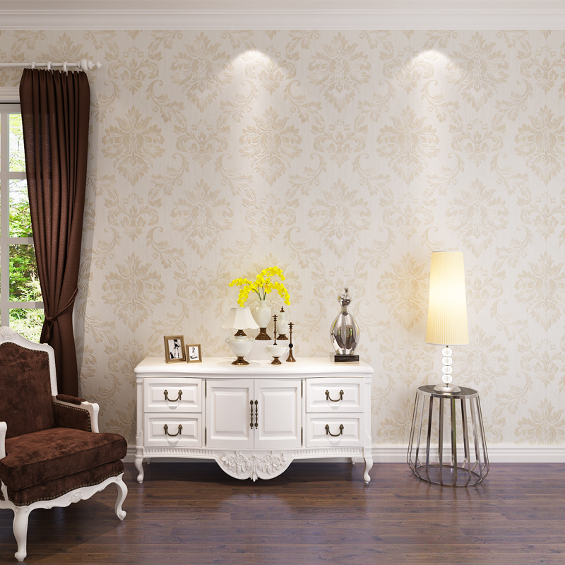 2017 Europe Style 3D Wallpaper for walls 3 d Floral Waterproof PVC wall murals roll Best Home Decor papel de parede QZ0393 <br>