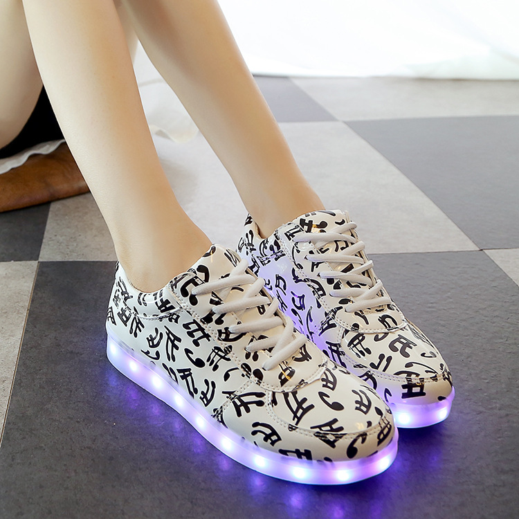 44 plus size womens  LED sneakers 2017 flat USB lighted up Luminous canvas shoes sapato femenino skateboarding shoes<br><br>Aliexpress
