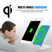 3-Coils Charge Qi Wireless Charging Stand Dock for Iphone 8/8 Plus Fast Charge for Samsung multi-angle(China)