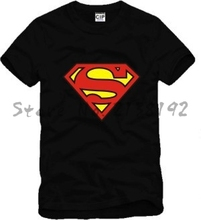 New Superhero superman t shirt men mens superman t-shirts comic cartoon t-shirt 100% cotton anime clothing film fit
