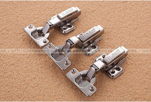 Cold Rolled Steel Hydraulic buffering hinge springs Furniture hardware cabinet door hinge tobacco pipes damping aircraft(China)