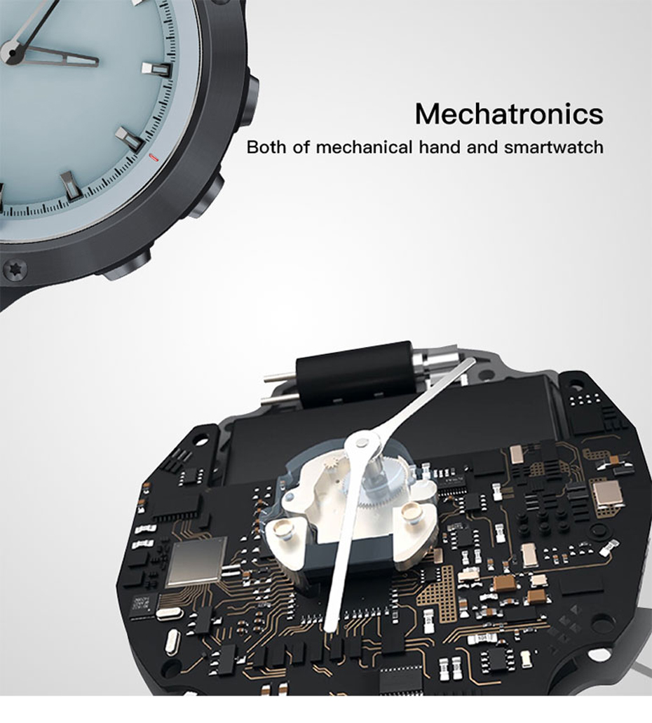 COLMI M5 Transparent Screen Smart Watch Men IP68 Waterproof Heart Rate Monitor Stainless Steel Clock Smartwatch For IOS Android 13