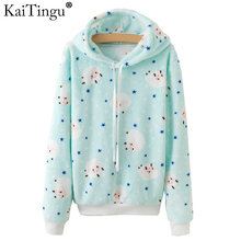 KaiTingu Brand Kawaii Sheep Panda Print Hoodies Women Autumn Winter Long Sleeve Sweatshirt Harajuku Tracksuit Jumper Pullover(China)