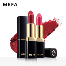 MEFA Matte Lipstick 1Pcs High Quality Cream Smooth Lipstick Waterproof Colorful Lip Beauty Cosmetic Long-Lasting Lip Tins Makeup(China)