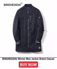 BINGHEDIDAI Winter Men Jacket Brand Casual Mens Jackets And Coats Thick Jackets Men\'s Parka Hooded Coat Male Parkas Winter