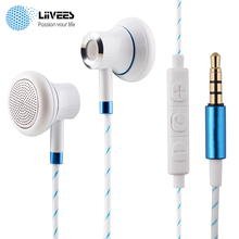LiiVEES M14 Flat ear Wired Earphones Gaming Headset Bass fone de ouvido Stereo beatsstudio Earbud MIC for MP3 player PC airpods