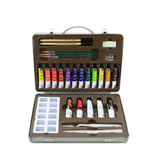 28 Pcs set Professional Oil Paint Set  Painting Iron Boxed Combination Art Set