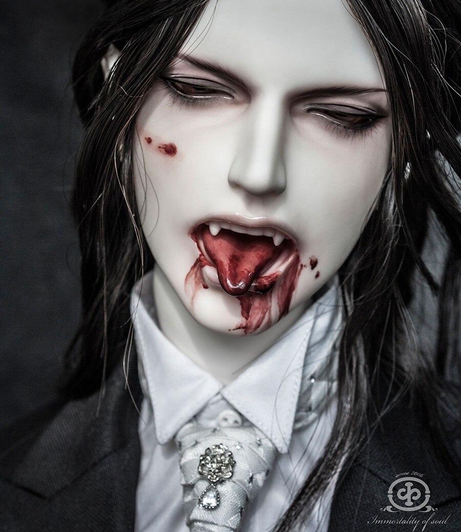 Vampire makeup boy