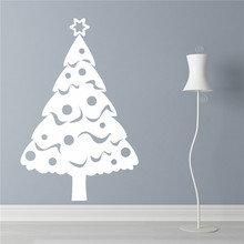 CaCar New Design Christmas Decoration Wall Stickers ,Pvc Chritmas tree Wall Decals Home Decor M36*57cm /L55*85cm(China)