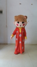 2014 hot sale New cute red woman Mascot Costume Arab woman cartoon character fancy dress