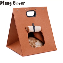 Multifunctional Cat House Foldable Pet Dog Bed Carry Bag Cat Portable Bag Warm Cat Mat Cushion Four Seasons(China)