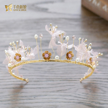 Gorgeous crystal tiara sweet crown jewelry hair ornaments retro Baroque hairband wedding photography accessories ey061(China)