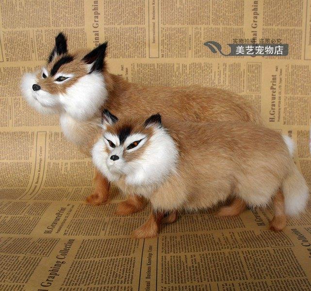 simulation brown fox model,polyethylene&amp; fur standing fox handicraft toy home decoration Xmas gift b3745<br><br>Aliexpress