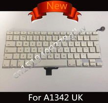 New UK QWERTY Standard Keyboard for Macbook Pro 13'' A1342 2009 2010 Unibody MC207 MC516 Keyboard with Power Button(China)