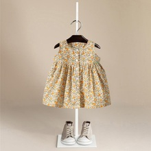100% cotton whole sale baby dress kids Princess dress for 80-120cm tall child top quality kids clothes
