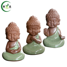 3 Different Styles Geyao Little Buddha Shaped Porcelain Tea Pets Black Tea Da Hong Pao Tea Tools(China)