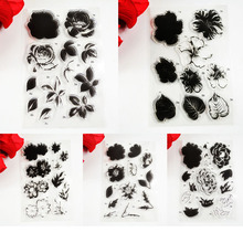 Block frame Flowers stick figure series TPR clear stamp Transparent Stamp For DIY Scrapbooking/Card Making/ Decoration Supplies(China)