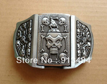 Skull belt buckle with kerosene lighter with pewter finish JF-B686 brand new condition with continou,stock