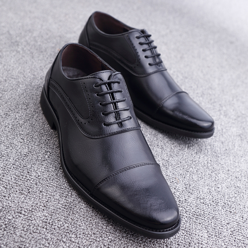 men spring working shoes luxury brand italian eurpean style pointed toe elegant male footwear dress working oxford shoes for men (25)
