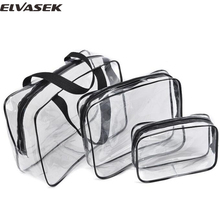 Elvasek multifunction bag women cosmetic cases PVC travel bags cosmetic pouch bags storage makeup organizer bag bolsas