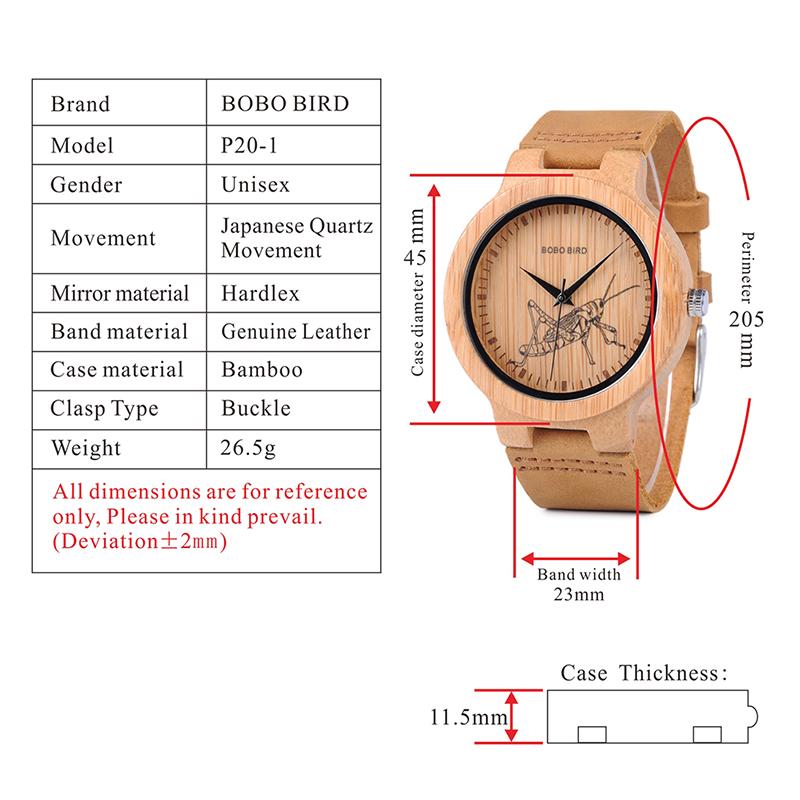 wooden men wrist watches for men bobo bird (2)