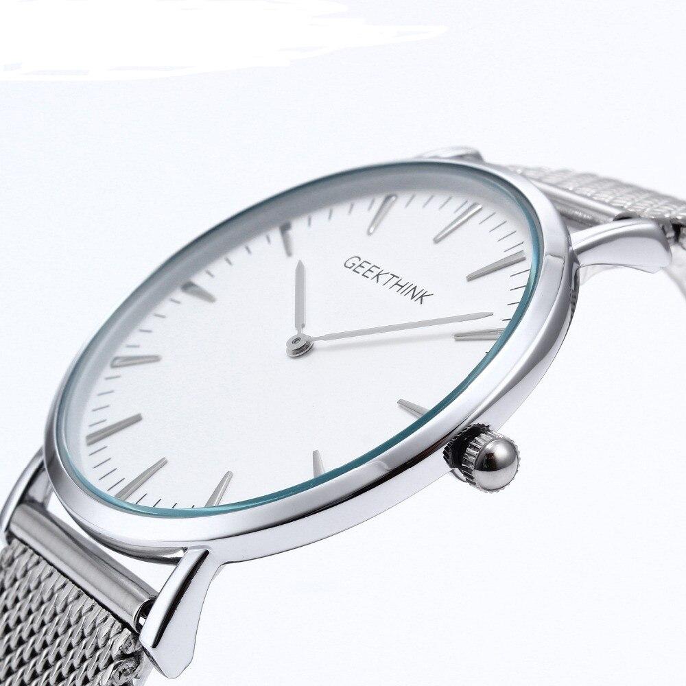 2017 Top Brand Luxury Quartz watch Casual men quartz-watch stainless steel Mesh strap ultra thin clock male relogio masculino<br><br>Aliexpress