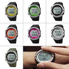 Fitness Heart Rate Monitor And Pedometer Watch Sport Watches Digital Electronic Wristwatches Calories Counter Watch For Men LL