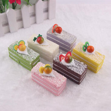 1 Pcs/set Creative Food Shape Fridge Magnets Cute Fruits Cream Cake Pastoral Decorative Refrigerator Souvenir Stickers