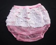 Haian Adult Frilly Plastic Rumba Incontinence Pull-on Plastic Pants  P003-5