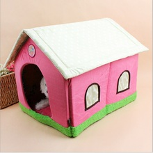 Fashion House Dog Bed Pet Bed Warm Soft Spongia  Dogs Kennel Dog House Pet Sleeping Bag Cat Bed Cat House Cama Perro