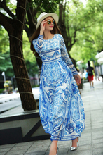 MaxNegio Brand 2017 Elegant Long Dress Spring Summer Printed Full Sleeve Beautiful Party/Beach Maxi Dress