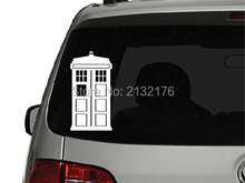 Doctor Who Tardis Die Cut Vinyl  Decal Sticker for Car Window Bumper Truck Laptop Ipad Computer Skateboard Motorcycle White 6''