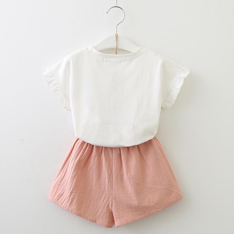 6963435ca505 Girls 2018 Summer New Baby Girls Clothing Sets Fashion Style Cartoon ...