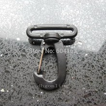 "30 Pcs Plastic snap hook 1.5"" 38mm rocker swivel Strap Webbing J1"