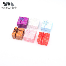 YouMap Hot Selling Small Dot Cardboard Ring Box Jewelry Display Packaging Gift Box X7R3C(China)