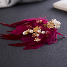 Korean fascinator hair clip Clever hair sweet wedding jewelry wedding dresses The bride adorn article(China)