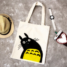 Anime My Neighbor Totoro Women Handbag Canvas Shopping Bag Foldable Reusable Grocery Hand Tote Bags