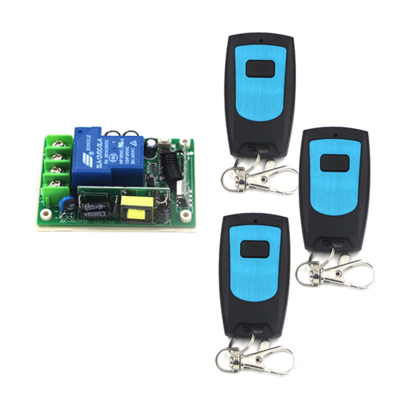 AC  220V 30A 1CH 220V RF Wireless Remote Switch Receiver &amp; 3 Transmitter Switch Wireless 30A Momenrary Toggle Latched 4148<br><br>Aliexpress