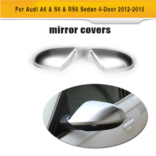 ABS Replacement Auto Mirror Covers Caps for Audi A6 & S6 & RS6 Sedan 4-Door 2012-2015(Hong Kong)