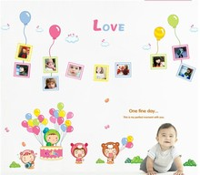 PVC Cartoon Balloon Photo Wall Sticker Home Decor For Children Room Removable TV Backdrop Wall Stickers/Wallpapers