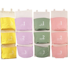 Wall Mounted 3 Pockets Storage Bags Fluid Systems Multilayer Pouch for Bathroom Kitchen Bedroom Decoration