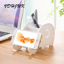 2017 new Creative cute cartoon elephant lazy mobile phone holder Storage Rack Can Be Disassembled phone shelf